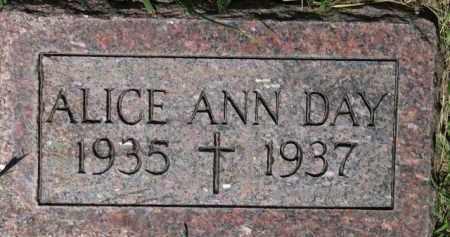 DAY, ALICE ANN - Dixon County, Nebraska | ALICE ANN DAY - Nebraska Gravestone Photos