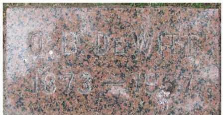 DE WITT, O.B. - Dixon County, Nebraska   O.B. DE WITT - Nebraska Gravestone Photos