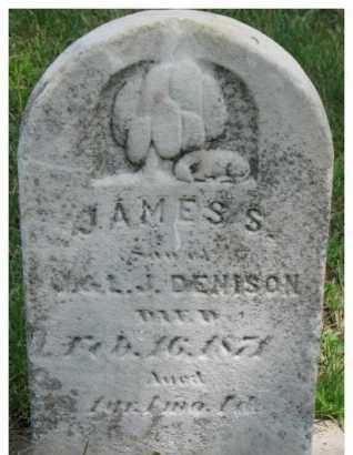 DENISON, JAMES S. - Dixon County, Nebraska | JAMES S. DENISON - Nebraska Gravestone Photos