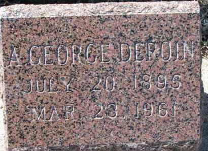 DEROIN, A. GEORGE - Dixon County, Nebraska | A. GEORGE DEROIN - Nebraska Gravestone Photos
