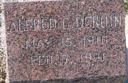 DEROIN, ALFRED C. - Dixon County, Nebraska   ALFRED C. DEROIN - Nebraska Gravestone Photos