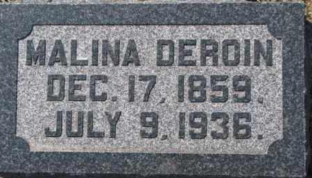 DEROIN, MALINA - Dixon County, Nebraska | MALINA DEROIN - Nebraska Gravestone Photos