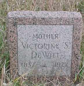 DEWITT, VICTORINE S. - Dixon County, Nebraska | VICTORINE S. DEWITT - Nebraska Gravestone Photos