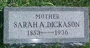 DICKASON, SARAH A. - Dixon County, Nebraska | SARAH A. DICKASON - Nebraska Gravestone Photos
