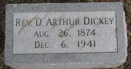 DICKEY, D. ARTHUR (REV) - Dixon County, Nebraska | D. ARTHUR (REV) DICKEY - Nebraska Gravestone Photos