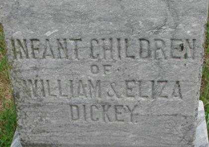 DICKEY, INFANTS - Dixon County, Nebraska | INFANTS DICKEY - Nebraska Gravestone Photos