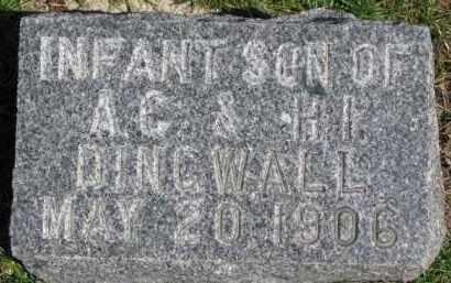 DINGWALL, INFANT - Dixon County, Nebraska | INFANT DINGWALL - Nebraska Gravestone Photos