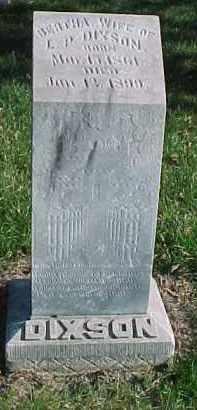 DIXON, BERTHA - Dixon County, Nebraska | BERTHA DIXON - Nebraska Gravestone Photos