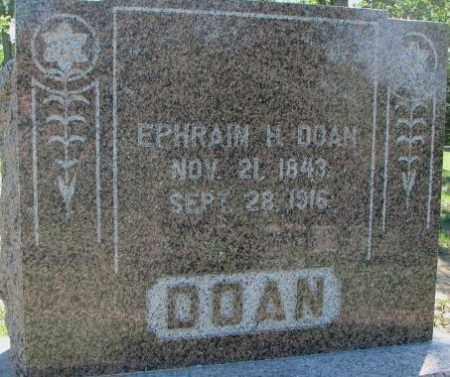 DOAN, EPHRAIM - Dixon County, Nebraska | EPHRAIM DOAN - Nebraska Gravestone Photos