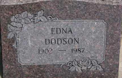 DODSON, EDNA - Dixon County, Nebraska   EDNA DODSON - Nebraska Gravestone Photos