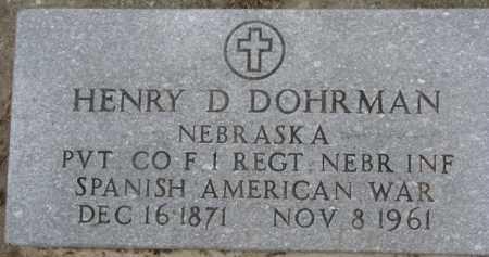DOHRMAN, HENRY D. - Dixon County, Nebraska | HENRY D. DOHRMAN - Nebraska Gravestone Photos