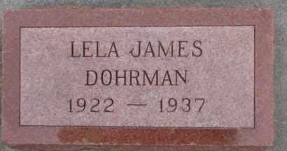 DOHRMAN, LELA JAMES - Dixon County, Nebraska | LELA JAMES DOHRMAN - Nebraska Gravestone Photos