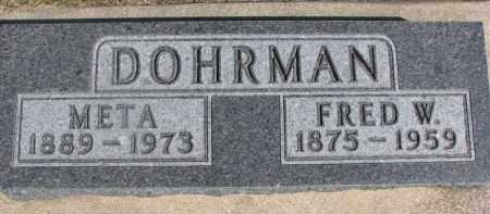 DOHRMAN, FRED W. - Dixon County, Nebraska | FRED W. DOHRMAN - Nebraska Gravestone Photos