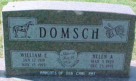 DOMSCH, WILLIAM E. - Dixon County, Nebraska   WILLIAM E. DOMSCH - Nebraska Gravestone Photos