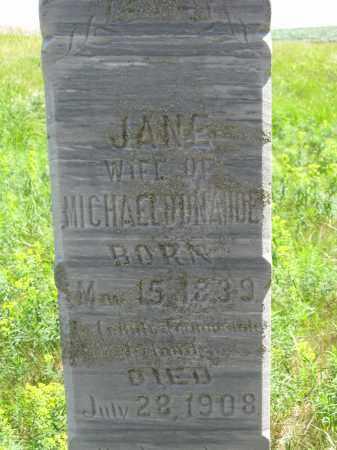 DONAHOE, JANE - Dixon County, Nebraska   JANE DONAHOE - Nebraska Gravestone Photos