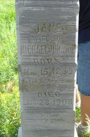 DONAHOE, JANE - Dixon County, Nebraska | JANE DONAHOE - Nebraska Gravestone Photos