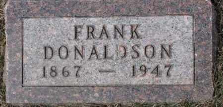 DONALDSON, FRANK - Dixon County, Nebraska | FRANK DONALDSON - Nebraska Gravestone Photos