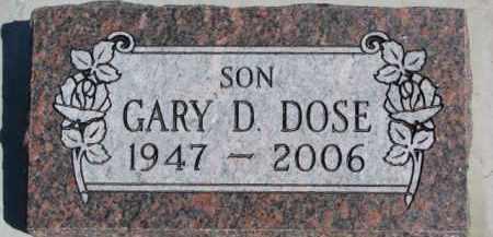 DOSE, GARY D. - Dixon County, Nebraska | GARY D. DOSE - Nebraska Gravestone Photos