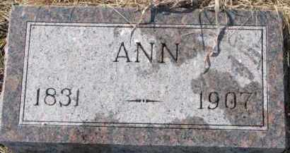 DOUGHERTY, ANN - Dixon County, Nebraska | ANN DOUGHERTY - Nebraska Gravestone Photos