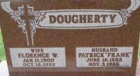 DOUGHERTY, FLORENCE W. - Dixon County, Nebraska | FLORENCE W. DOUGHERTY - Nebraska Gravestone Photos