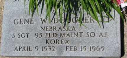DOUGHERTY, GENE W. (MILITARY MARKER) - Dixon County, Nebraska | GENE W. (MILITARY MARKER) DOUGHERTY - Nebraska Gravestone Photos