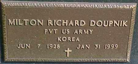 DOUPNIK, MILTON R. (KOREA MARKER) - Dixon County, Nebraska   MILTON R. (KOREA MARKER) DOUPNIK - Nebraska Gravestone Photos