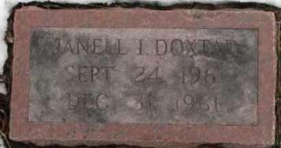 DOXTAD, JANELL I. - Dixon County, Nebraska | JANELL I. DOXTAD - Nebraska Gravestone Photos
