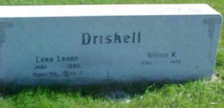 DRISKELL, LENA LEANE - Dixon County, Nebraska | LENA LEANE DRISKELL - Nebraska Gravestone Photos