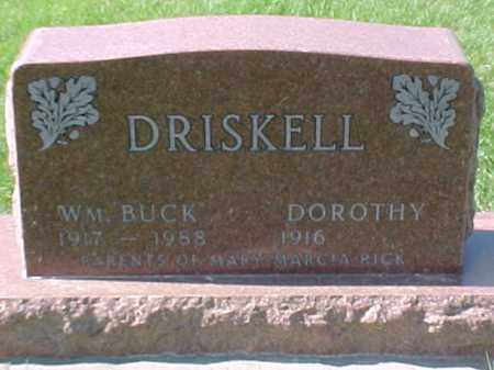 "DRISKELL, W.M ""BUCK"" - Dixon County, Nebraska | W.M ""BUCK"" DRISKELL - Nebraska Gravestone Photos"