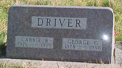 DRIVER, CARRIE B. - Dixon County, Nebraska   CARRIE B. DRIVER - Nebraska Gravestone Photos