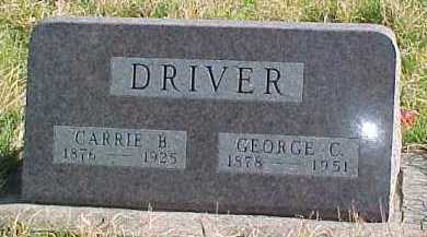 DRIVER, GEORGE C. - Dixon County, Nebraska | GEORGE C. DRIVER - Nebraska Gravestone Photos