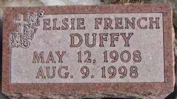 FRENCH DUFFY, ELSIE - Dixon County, Nebraska | ELSIE FRENCH DUFFY - Nebraska Gravestone Photos