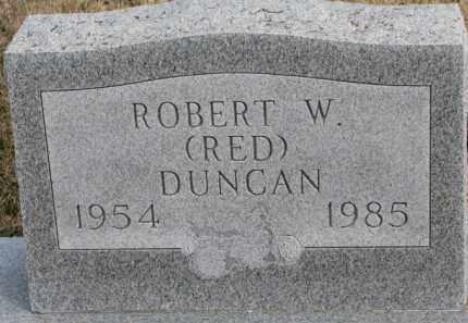 DUNCAN, ROBERT W. (RED) - Dixon County, Nebraska   ROBERT W. (RED) DUNCAN - Nebraska Gravestone Photos