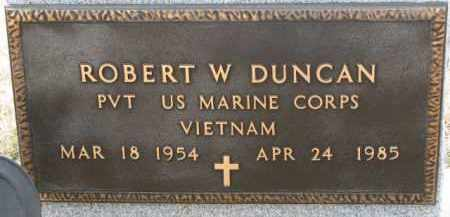 DUNCAN, ROBERT W. (MILITARY MARKER) - Dixon County, Nebraska | ROBERT W. (MILITARY MARKER) DUNCAN - Nebraska Gravestone Photos