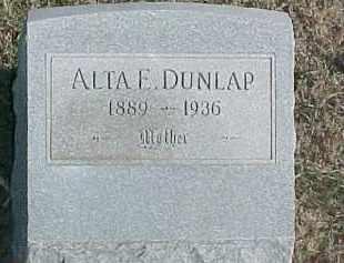 DUNLAP, ALTA E. - Dixon County, Nebraska | ALTA E. DUNLAP - Nebraska Gravestone Photos