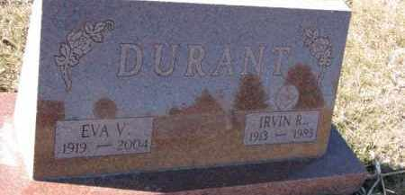 DURANT, EVA V. - Dixon County, Nebraska | EVA V. DURANT - Nebraska Gravestone Photos