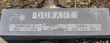 DURANT, HAROLD E. - Dixon County, Nebraska | HAROLD E. DURANT - Nebraska Gravestone Photos