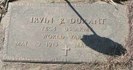 DURANT, IRVIN R. (WW II MARKER) - Dixon County, Nebraska | IRVIN R. (WW II MARKER) DURANT - Nebraska Gravestone Photos