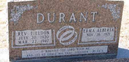 DURANT, ERMA ALBERTA - Dixon County, Nebraska | ERMA ALBERTA DURANT - Nebraska Gravestone Photos