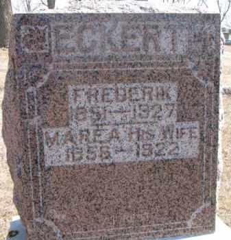 ECKERT, FREDERIK - Dixon County, Nebraska | FREDERIK ECKERT - Nebraska Gravestone Photos