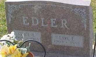 EDLER, EARL L. - Dixon County, Nebraska | EARL L. EDLER - Nebraska Gravestone Photos