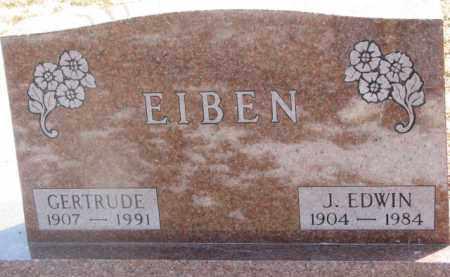 EIBEN, GERTRUDE - Dixon County, Nebraska | GERTRUDE EIBEN - Nebraska Gravestone Photos