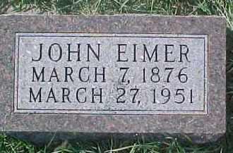 EIMER, JOHN - Dixon County, Nebraska | JOHN EIMER - Nebraska Gravestone Photos