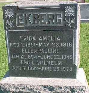 EKBERG, ELLEN PAULINE - Dixon County, Nebraska | ELLEN PAULINE EKBERG - Nebraska Gravestone Photos