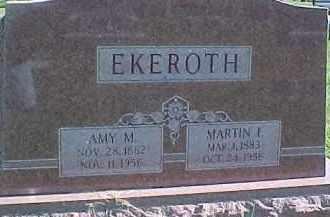 HALLBERG EKEROTH, AMY M. - Dixon County, Nebraska | AMY M. HALLBERG EKEROTH - Nebraska Gravestone Photos