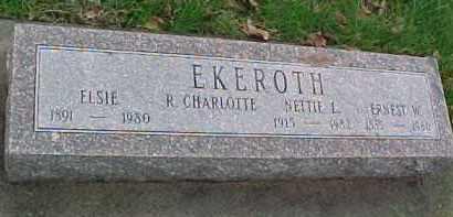 EKEROTH, R. CHARLOTTE - Dixon County, Nebraska | R. CHARLOTTE EKEROTH - Nebraska Gravestone Photos