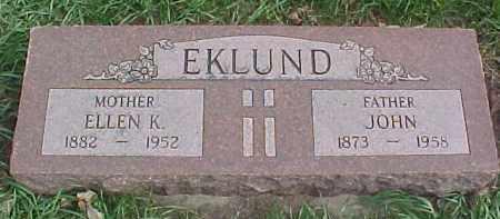 EKLUND, ELLEN K. - Dixon County, Nebraska | ELLEN K. EKLUND - Nebraska Gravestone Photos