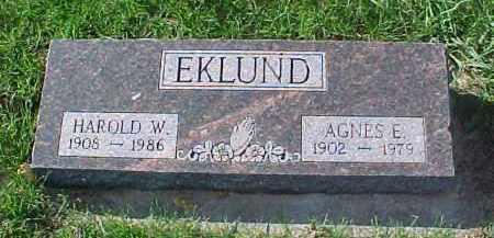 EKLUND, HAROLD W. - Dixon County, Nebraska | HAROLD W. EKLUND - Nebraska Gravestone Photos