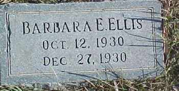 ELLIS, BARBARA E. - Dixon County, Nebraska | BARBARA E. ELLIS - Nebraska Gravestone Photos