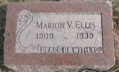 ELLIS, MARION V. - Dixon County, Nebraska | MARION V. ELLIS - Nebraska Gravestone Photos